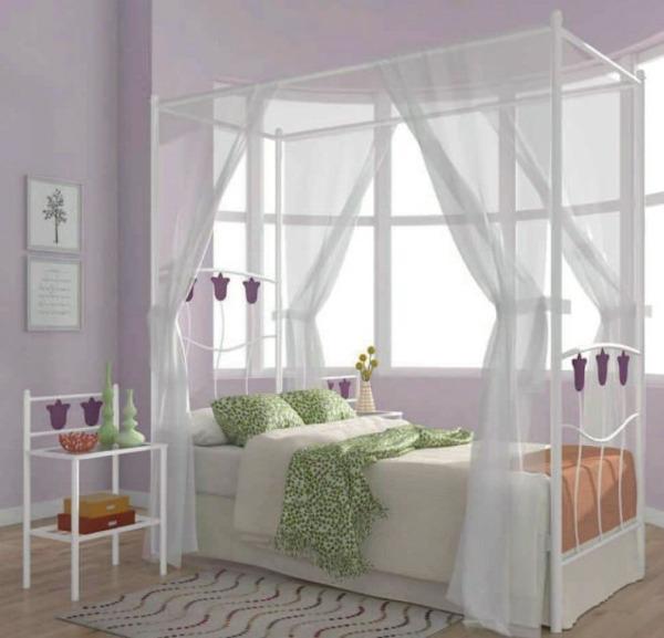 Cama de forja flor dosel - Dosel para cama ...