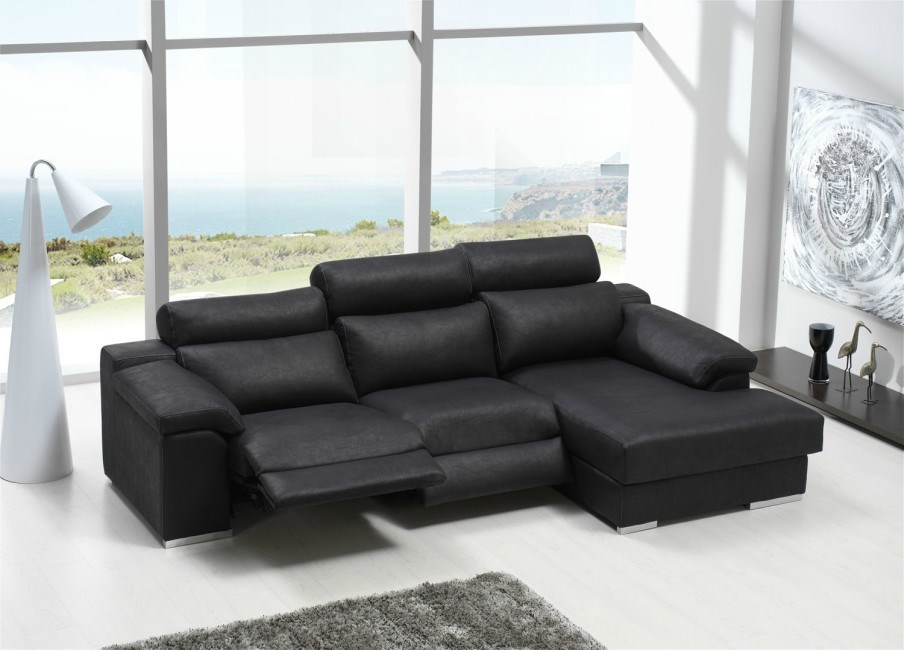 Sof con chaiselongue clima relax el ctrico for Sofas relax con motor