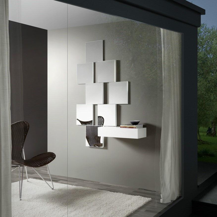 Composici n recibidor lc 123 de espejos y consola for Espejos grandes modernos