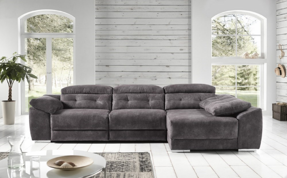 Sofa chaiselongue donosti en diferentes medidas y telas a for Catalogos de sofas chaise longue