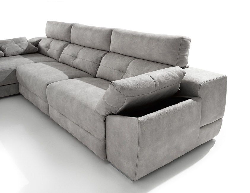Sofa chaiselongue memory en diferentes medidas y telas a for Sofa con chaise longue