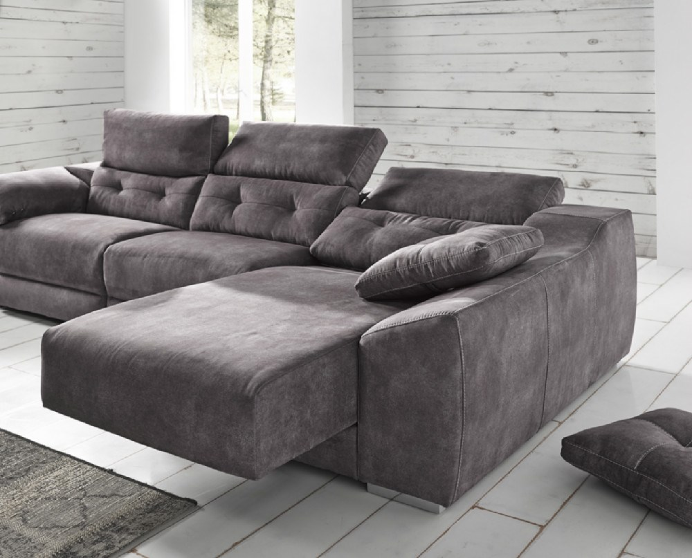 Sofa chaiselongue donosti en diferentes medidas y telas a for Sofa 1 plaza chaise longue