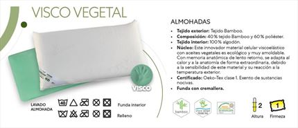 Almohada Relax Visco Vegetal