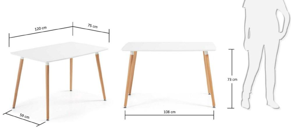 Mesa de comedor daw - Medidas mesas comedor ...