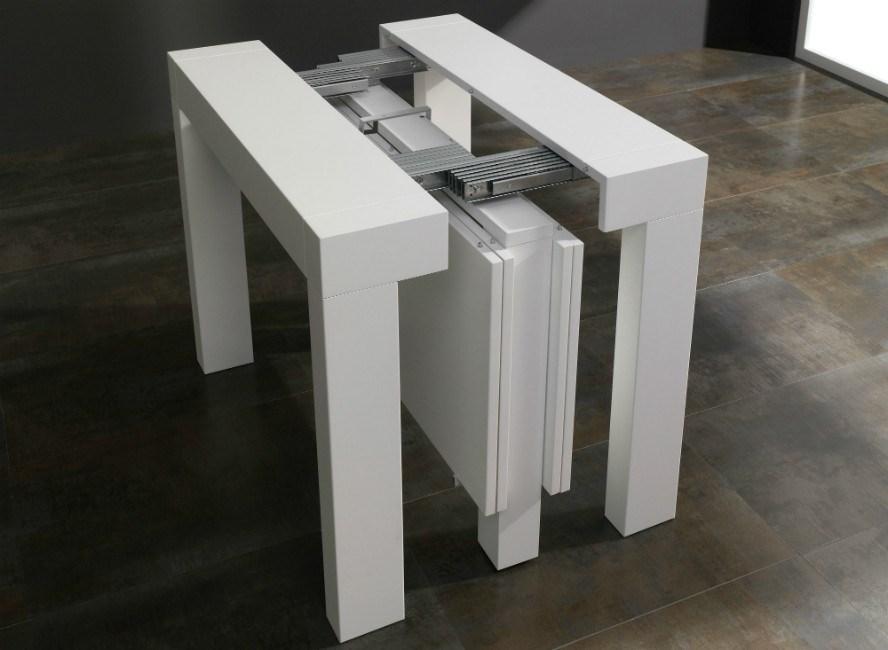 Consola LIMITE convertible en mesa de comedor LÍMITE 4 extensibles